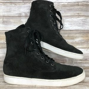 KR3W Franklin 8M Black Suede Hi-Top Sneakers